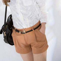CatWorld - Tulip-Hem Shorts