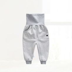 ciciibear - Kids Piped High-waist Pants