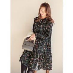 J-ANN - Floral Print Dress