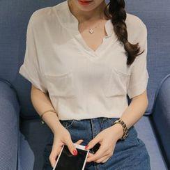 Q.C.T - 短袖開襟襯衫