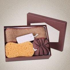 Koeman - 礼品套装: 沐浴海绵 + 浴球 + 磨脚石 + 搓背条