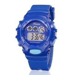 MINGZHI - 兒童膠帶LED運動手錶