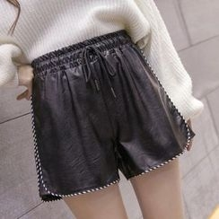 Katie Bloom - Faux Leather Shorts