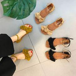 QQ Trend - 踝带蝴蝶结凉鞋