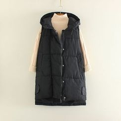 Mushi - Plain Hooded Padded Vest