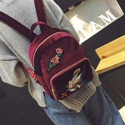 薇薇 - 花形刺绣背包
