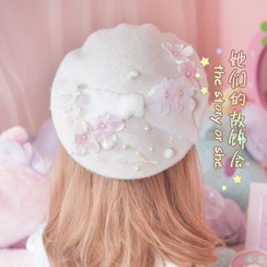 AOI - Flower Beaded Beret
