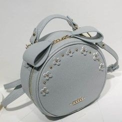 Axixi - Flower-Accent Round Cross Bag