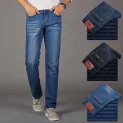 Denimic - Washed Straight Fit Jeans