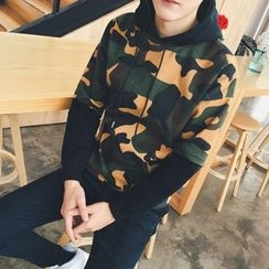 JVI - Camouflage Mock Two-Piece Hoodie