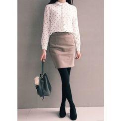 J-ANN - Cotton Blend Miniskirt