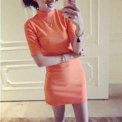 Octavia - Short-Sleeve Sheath Dress