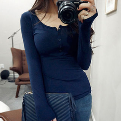 chuu - Long-Sleeved Henley