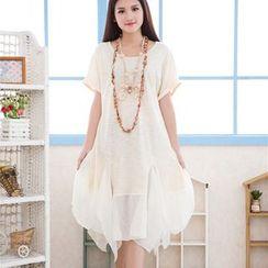 Nectarine - Mock Two-Piece Dress