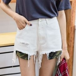 Leewiart - Camo Pocket Denim Shorts