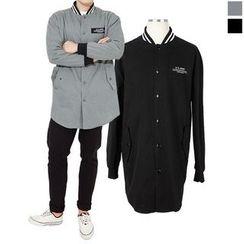 Seoul Homme - Single-Button Appliqué Jacket