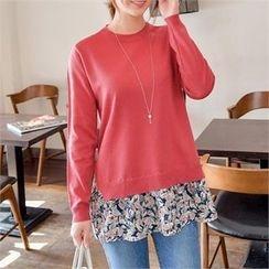 JOAMOM - Floral-Pattern Knit Top