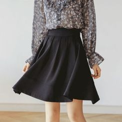 JUSTONE - A-Line Mini Pleat Skirt