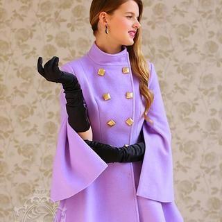 Dabuwawa - Double-Breasted Wool Blend Cape Coat