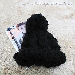 NANING9 - Pompom Chunky Knit Beanie