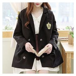 Sechuna - Notched-Lapel Double-Breasted Coat