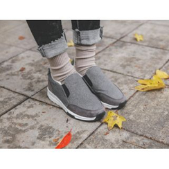 JUSTONE - Hidden-Heel Fleece Lined Sneakers