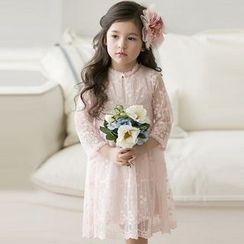 Cuckoo - Kids 3/4 Sleeve Lace Dress