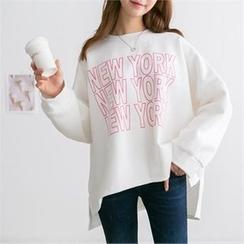 PEPER - Lettering Dip-Back T-Shirt