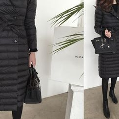 DAILY LOOK - Double-Breasted Duck-Down Coat With Sash