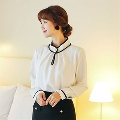 Styleberry - Contrast Trim Blouse