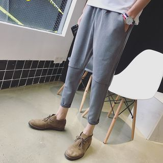 JUN.LEE - Plain Cropped Pants