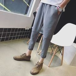 JUN.LEE - Plain Cropped Pants