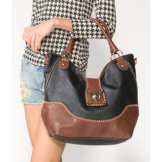 59 Seconds - Twist Lock Two-Tone Tote Bag