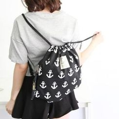 rico - Anchor-Print Drawstring Backpack