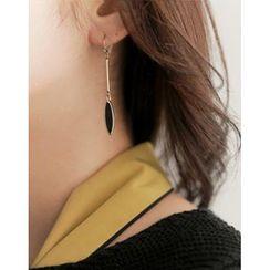 UPTOWNHOLIC - Oval Dangle Earrings