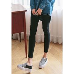 REDOPIN - Band-Waist Skinny Pants
