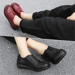 Reneve - Toe-Cap Genuine-Leather Slip-Ons