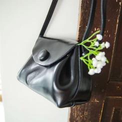JUSTONE - Genuine-Leather Flap Shoulder Bag