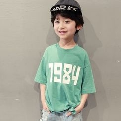 YOOYOO - Kids Number Print 3/4 Sleeve T-Shirt