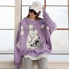 CHICFOX - Drop-Shoulder Printed Sweatshirt