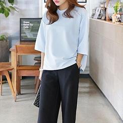 Seoul Fashion - Crewneck Boxy T-Shirt