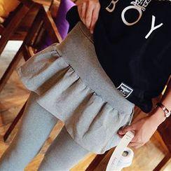 LaRos - 打褶裥假两件内搭裤