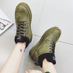 SouthBay Shoes - Platform Lace Up Snow Boots