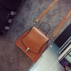 BAGSHOW - Faux Leather Shoulder Bag