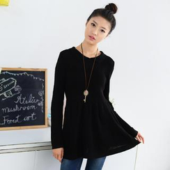 59 Seconds - Collared Knit Dress