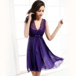 Sophine - Lace-Trim Nightdress