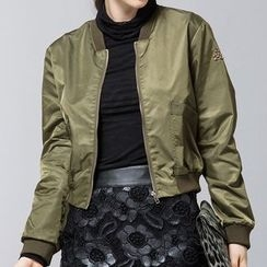 Liya Closet - Cropped Bomber Jacket
