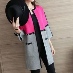 Bubbleknot - Studded Panel Knit Jacket