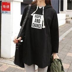 CHICFOX - Lettering Hooded Sweatshirt