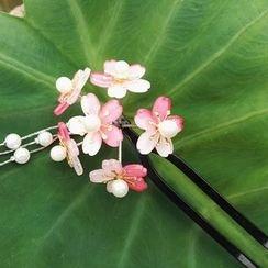 Kiyoha - Ancient Beaded Flower Hair Stick